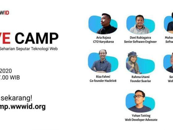 Poster wwwID livecamp beserta 7 pembicara