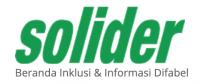 Logo solider, beranda inklusi & informasi difabel