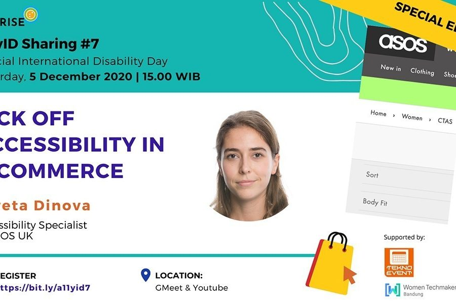 Poster acara a11yID 7 Accessibility in E-commerce