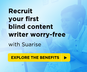 Recruit your first blind content writer worry free. Explore the benefits
