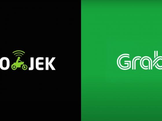 Logo Gojek vs Grab