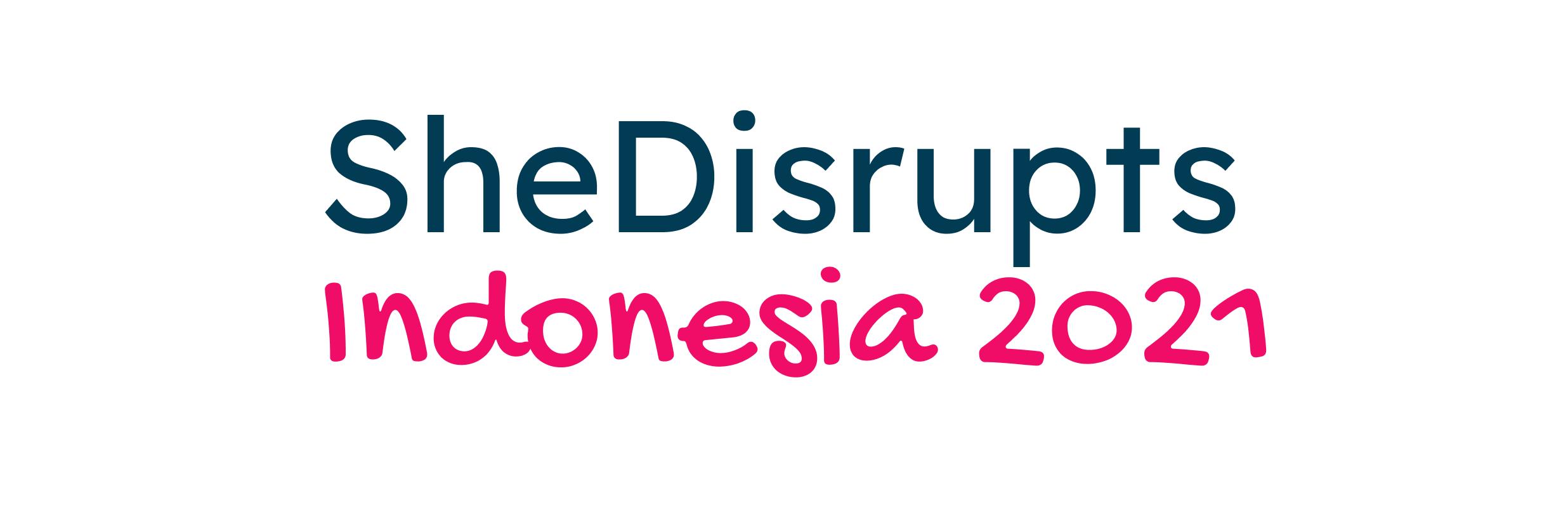 Logo she disrupts indonesia 2021